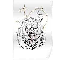 twice cursed werewolf line art Poster