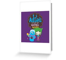 Bats Imaginary Friends, BlooFreeze and MacJoker Greeting Card