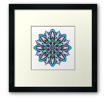 blue and light purple mandala Framed Print