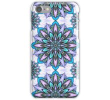 blue and light purple mandala iPhone Case/Skin