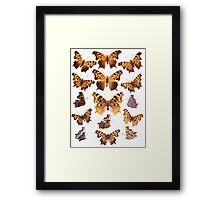 The Butterfly Book Collage I Framed Print