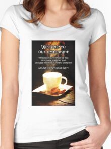 No Wi-Fi Women's Fitted Scoop T-Shirt