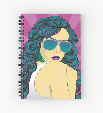 Psychedelic Girl-purple Spiral Notebook