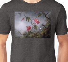 Passion Flowers with Hummingbirds Unisex T-Shirt