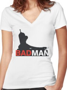 Bad Man Women's Fitted V-Neck T-Shirt