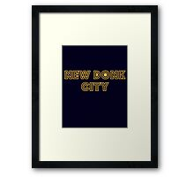 New Donk City Framed Print