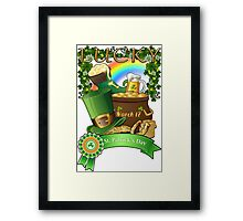 Lucky St. Patrick's Day Redbubble Funny T Shirts Framed Print
