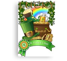 Lucky St. Patrick's Day Redbubble Funny T Shirts Canvas Print