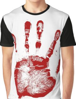 Red Palmprint Graphic T-Shirt