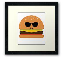 Burger Emoji Cool Sunglasses Framed Print