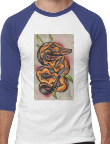 old timey snake tattoo Men's Baseball ¾ T-Shirt