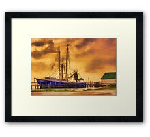Captain Ricky's Boat Framed Print