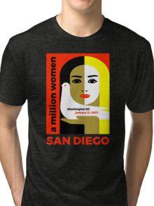 Women's March on San Diego, California January 21, 2017 Tri-blend T-Shirt