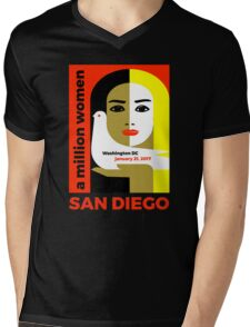 Women's March on San Diego, California January 21, 2017 Mens V-Neck T-Shirt
