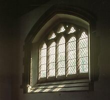 Side window church of St Nicholas Grosmont Wales 19840518 0035 by Fred Mitchell