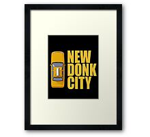New Donk City Taxi Framed Print