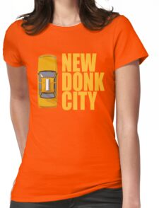 New Donk City Taxi Womens Fitted T-Shirt