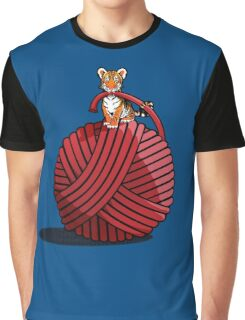 Tigers ball of Yarn Graphic T-Shirt