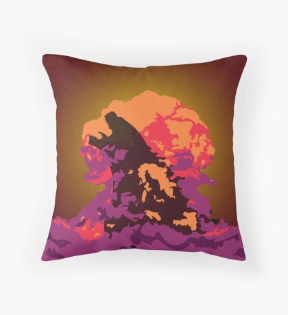 Godzilla Atomic Bomb Blast Throw Pillow