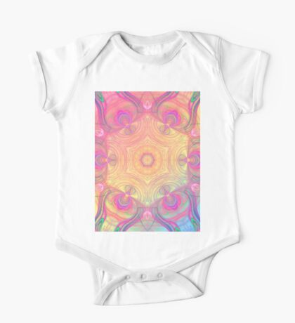Psychedelic kaleidoscope in pastel colours One Piece - Short Sleeve