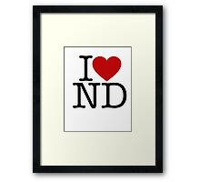 I Heart New Donk Framed Print