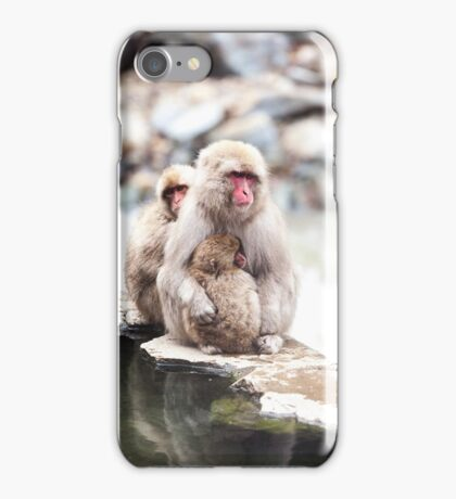 Japanese macaque snow monkeys, Japan iPhone Case/Skin