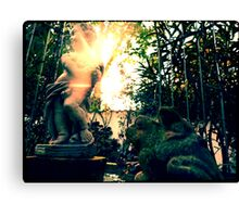 Two Frogs and a Putto Canvas Print