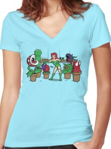 Ivy's Greenhouse Women's Fitted V-Neck T-Shirt
