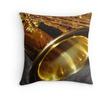 Swing that music! Alto Saxophone Bell Throw Pillow