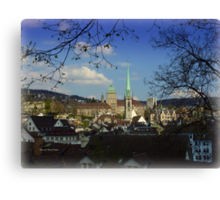 A City and a Home Canvas Print