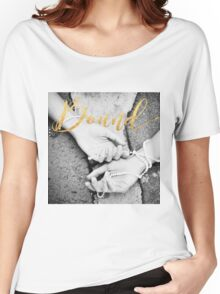 Bound: Black and white close up of hands bound with pearls Women's Relaxed Fit T-Shirt