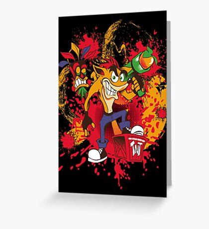 Bad-A Bandicoot Greeting Card