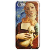 Venus with a Ermine in a Starry Night iPhone Case/Skin