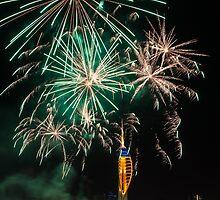 Gunwharf Fireworks by Colin Payne