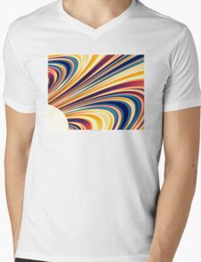 Color and Form Abstract - Solar Gravity and Magnetism 5 Mens V-Neck T-Shirt