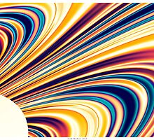Color and Form Abstract - Solar Gravity and Magnetism 5 by Leah McNeir