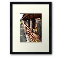 Dharma Wheels Framed Print