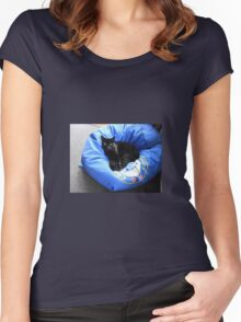 Mr. Mystery - Feline Visitor Women's Fitted Scoop T-Shirt
