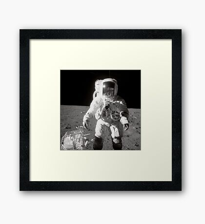 Apollo moonwalk. Framed Print