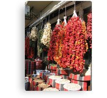 Dry peppers Canvas Print