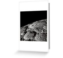 International Astronomical Union Crater 302 on the lunar surface. Greeting Card