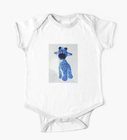 Blue Giraffe One Piece - Short Sleeve