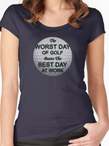 Worst Day of Golf Women's Fitted Scoop T-Shirt