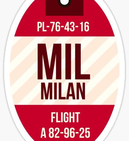 Milan Trip Tag Sticker