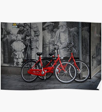 Amsterdam, High Power Art and Bicycles Poster