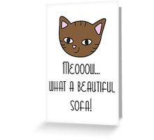 Beautiful sofa Greeting Card