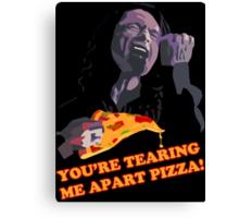 Tear-Apart Pizza Canvas Print