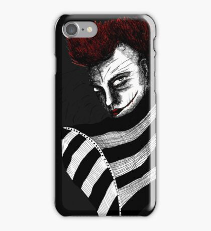 Red smile J iPhone Case/Skin
