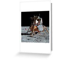 The Apollo 14 Lunar Module on the moon. Greeting Card
