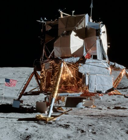 The Apollo 14 Lunar Module on the moon. Sticker